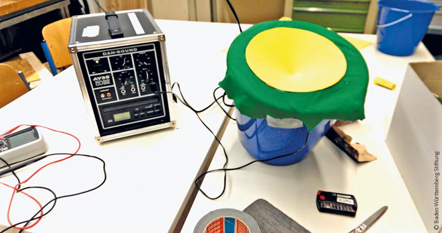 Mit Putzeimer, Papier und Kupferdraht zum selbstgemachten Sound