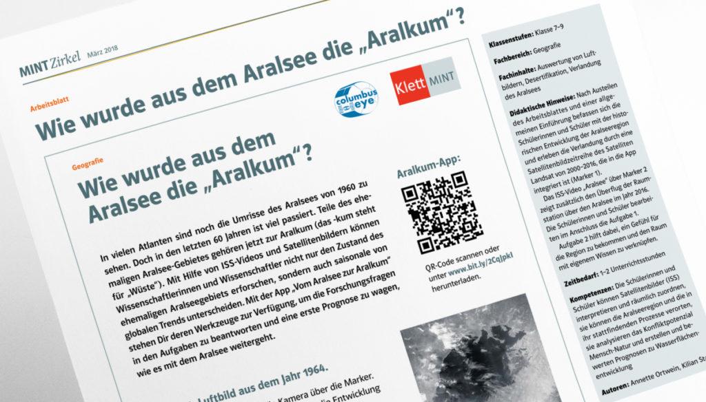"""Arbeitsblatt: Wie wurde aus dem Aralsee die """"Aralkum""""?"""